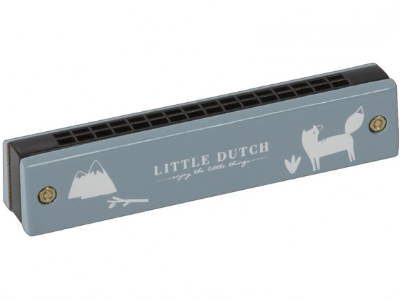Little Dutch Mundharmonika BÄR blau