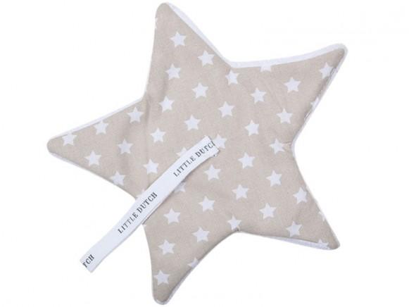 Little Dutch Schnullertuch Sterne beige