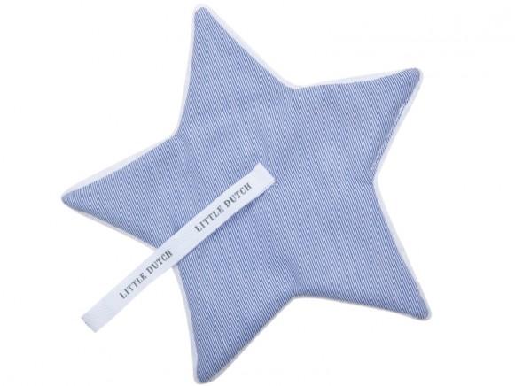 Little Dutch Schnullertuch Streifen blau