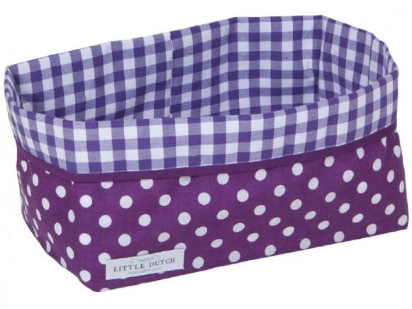 Little Dutch Wickeltischkörbchen Punkte violett groß