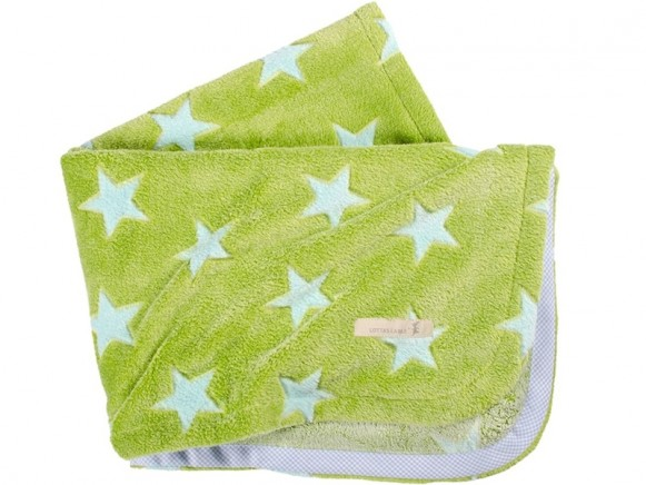 Lottas Lable Babydecke Sterne grün