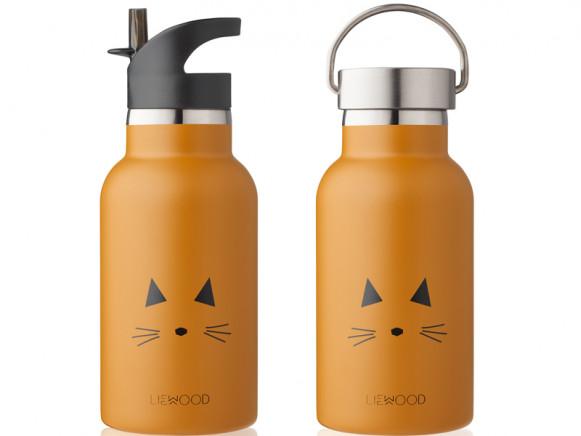 LIEWOOD Wasserflasche Anker KATZE senfgelb