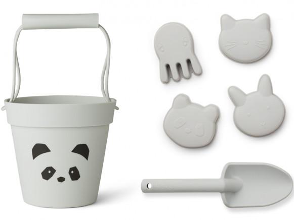 LIEWOOD Dante Sand-Spielzeug PANDA grau
