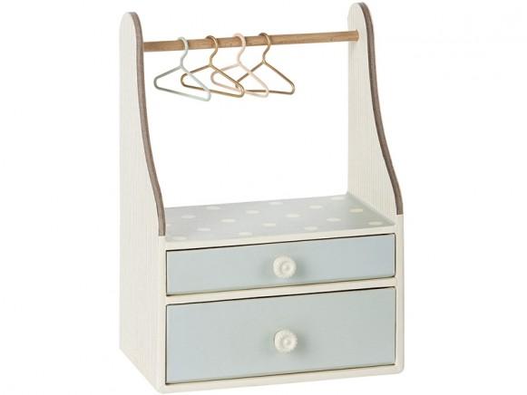 Maileg Kleiderschrank Kommode Mint Micro