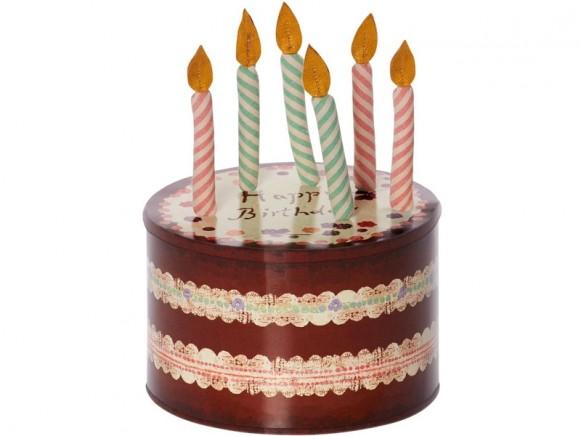 Maileg Kuchendose mit 6 Kerzen