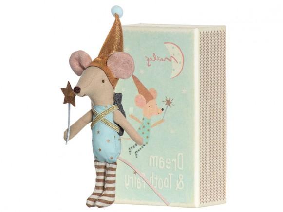 Maileg Maus DREAM & TOOTH FAIRY Zahnfee blau in der Box