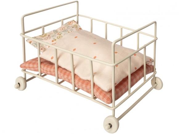 Maileg metall stubenwagen für micro rosa takatomo