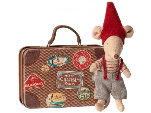 Maileg Weihnachtsmaus im Koffer KLEINER BRUDER