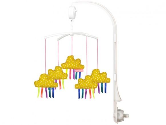 Mellipou Mobile mit Spieluhr Wolken senfgelb SOMEONE LIKE YOU