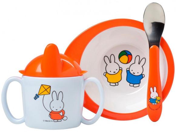 Mepal 3-teiliges Baby Geschenk-Set MIFFY SPIELT