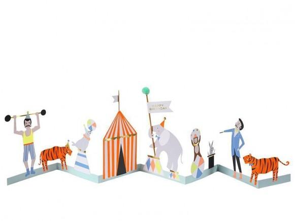 Meri Meri 3D-Grußkarte ZIRKUS
