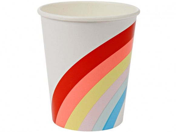 Meri Meri Party Cups Pappbecher REGENBOGEN