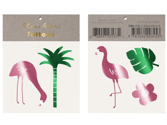 Meri Meri Tattoos TROPISCHE FLAMINGOS