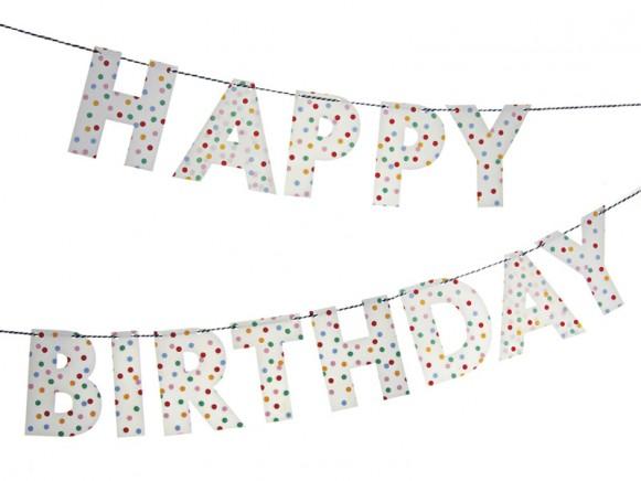 Meri Meri Happy Birthday Girlande