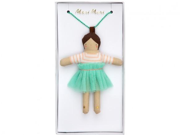 Meri Meri Halskette mit Puppe LILA