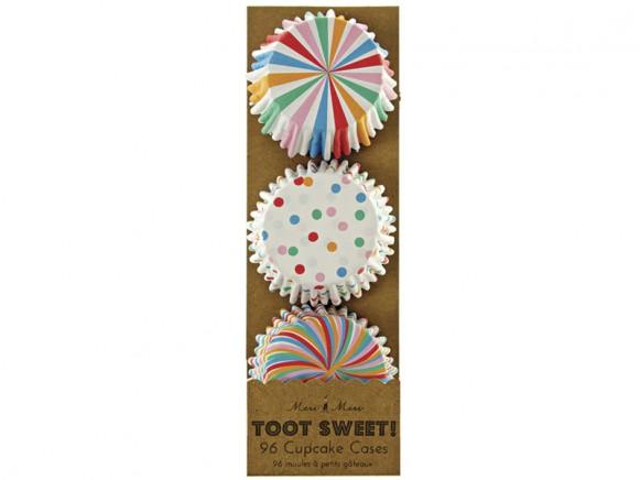 Meri Meri Mini Cupcake Set bunte Muster