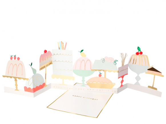 Meri Meri 3D-Grußkarte KUCHEN & DESSERT Birthday