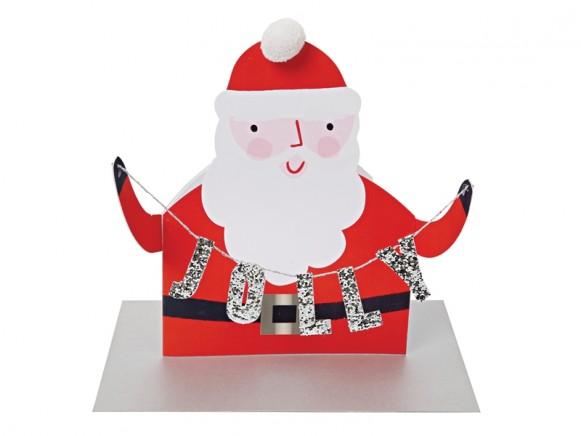 Meri Meri 3D Weihnachtskarte JOLLY SANTA