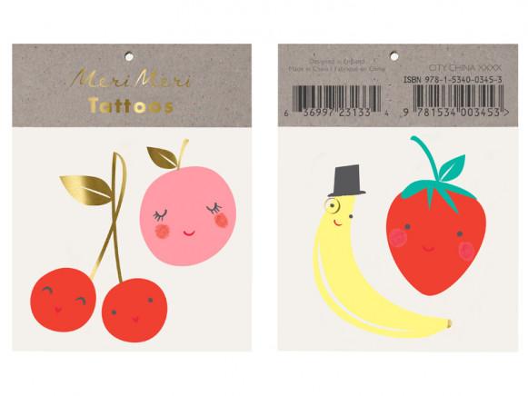 Meri Meri Tattoos HAPPY FRUIT