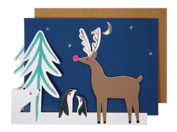 Meri Meri 3D Weihnachtskarte POLARTIERE