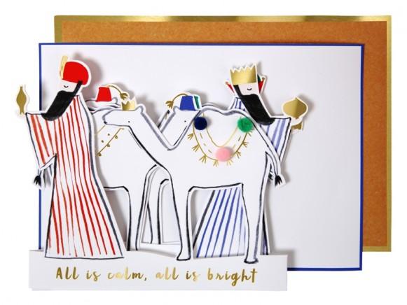 Meri Meri 3D Weihnachtskarte HEILIGE 3 KÖNIGE