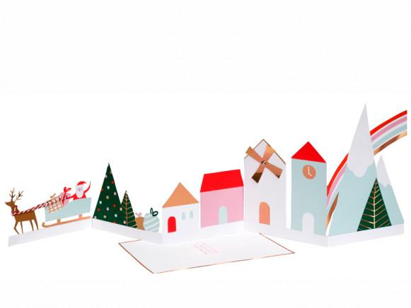 Meri Meri 3D Weihnachtskarte WEIHNACHTSDORF