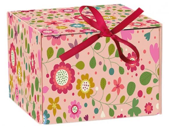 Minilabo Faltschachtel Fleurs Fonds Rosé