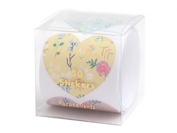 Meri Meri 50 Sticker HERZEN Wildblumen