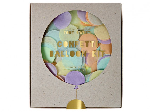 Meri Meri Ballon-Set mit Konfetti pastell