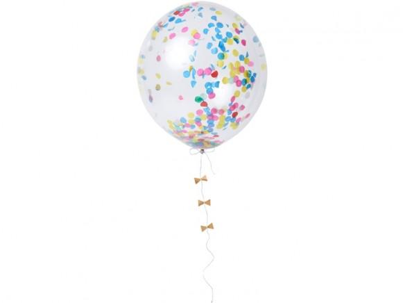 Meri Meri Ballon-Set mit Konfetti bright