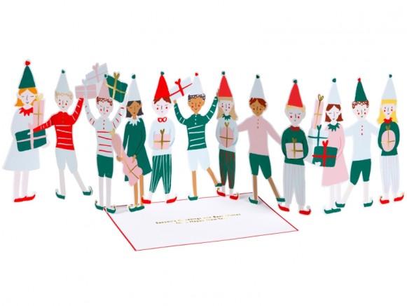Meri Meri 3D Weihnachtskarte ELFEN