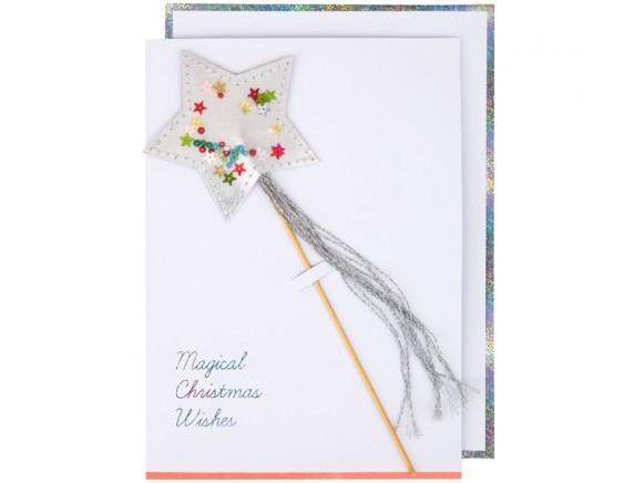 Meri Meri 3D Weihnachtskarte STERNZAUBERSTAB