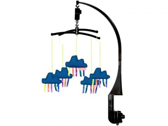 Mellipou Mobile mit Spieluhr Wolken LA VALSE D'AMELIE blau