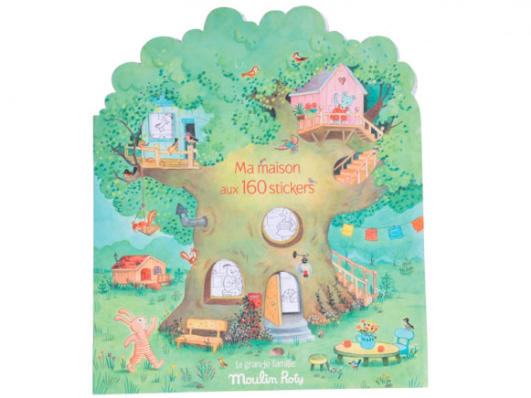 Moulin Roty Malbuch mit Stickern EINE GROSSE FAMILIE