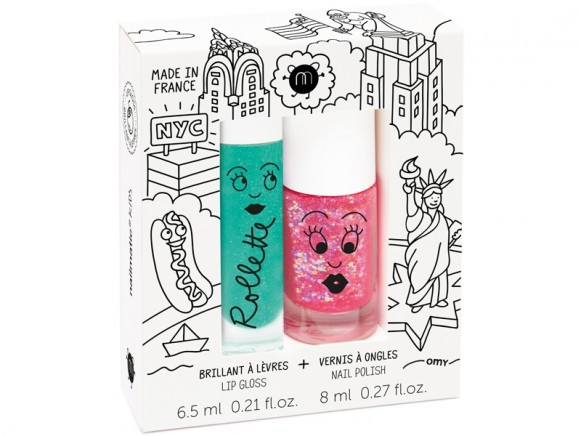 nailmatic kids Lipgloss + Nagellack Set NEW YORK
