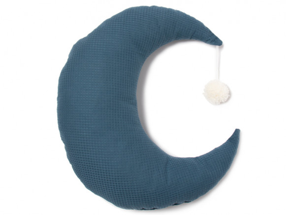 Nobodinoz Kissen Mond PIERROT nachtblau