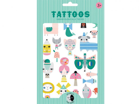 Petit Monkey Leucht-Tattoos LEOPARD