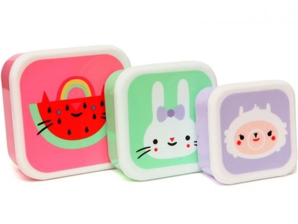 Petit Monkey Lunchbox Set WASSERMELONE