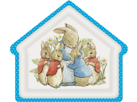 Petit Jour Teller in Hausform PETER HASE blau