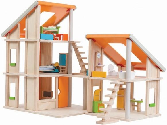 PlanToys Puppenhaus CHALET mit Möbeln