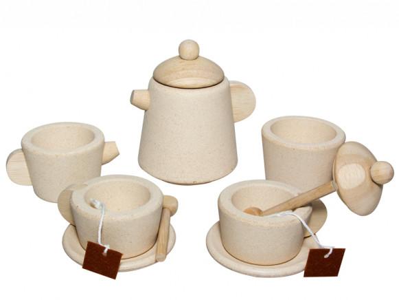 PlanToys Teeset aus Holz NATUR