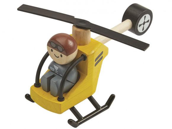 Plantoys Hubschrauber mit Pilot