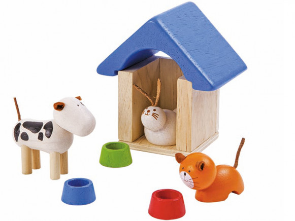 PlanToys Puppenhaus Haustiere