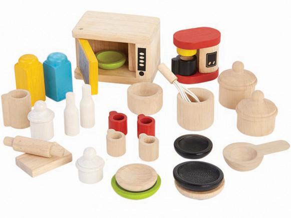 PlanToys Puppenhaus Küchenzubehör