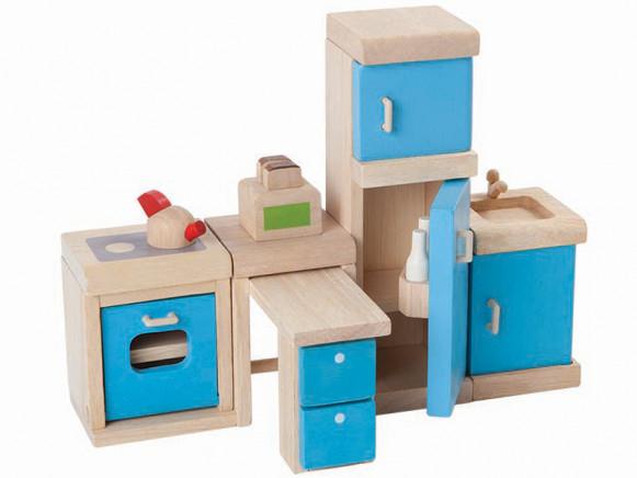 PlanToys Puppenhaus Küche AQUA