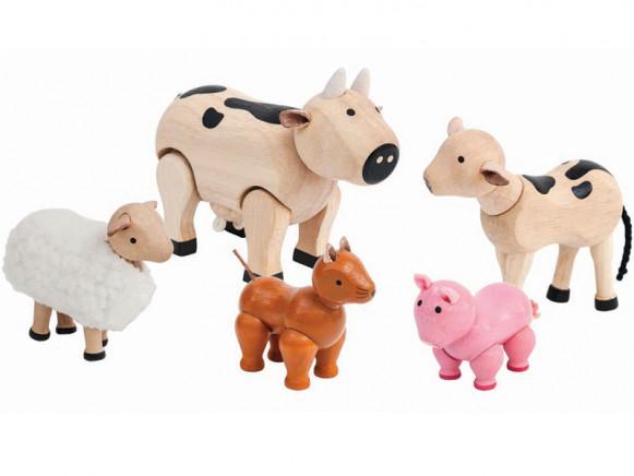 PlanToys Puppenhaus Bauernhof-Tiere