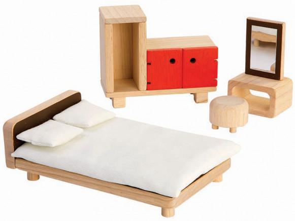 PlanToys Puppenhaus Schlafzimmer