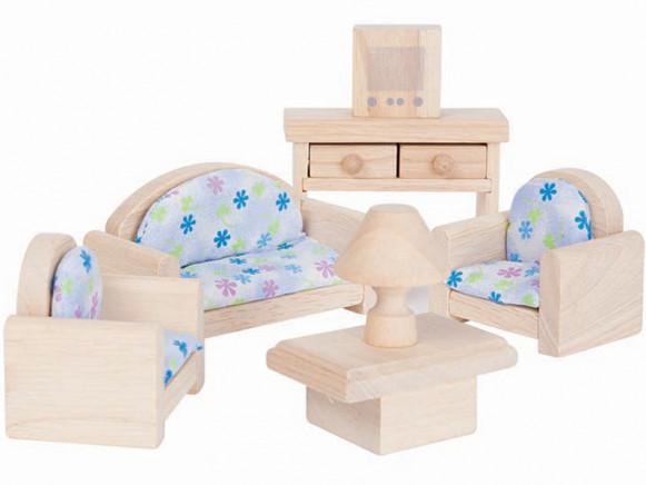 PlanToys Puppenhaus Wohnzimmer CLASSIC
