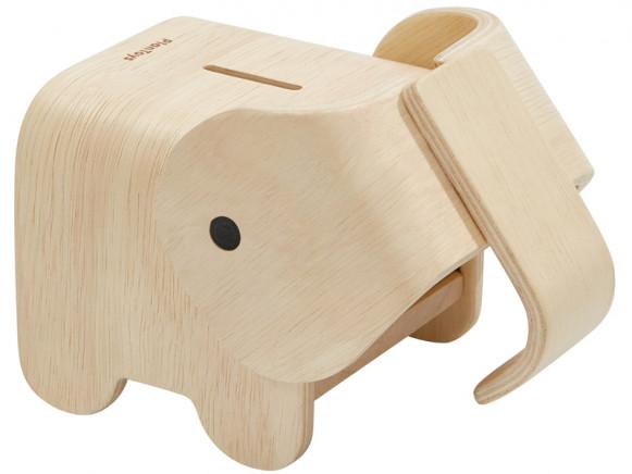 PlanToys Holz-Spardose ELEFANT