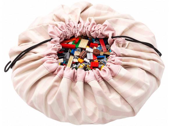 Play & Go Spielzeugsack STREIFEN rosa